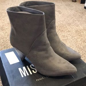 Women's Missguided Gray Booties Suede and Leather